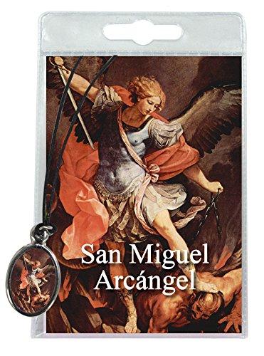 Ferrari & Arrighetti Medalla San Miguel con cordón y  oración en español