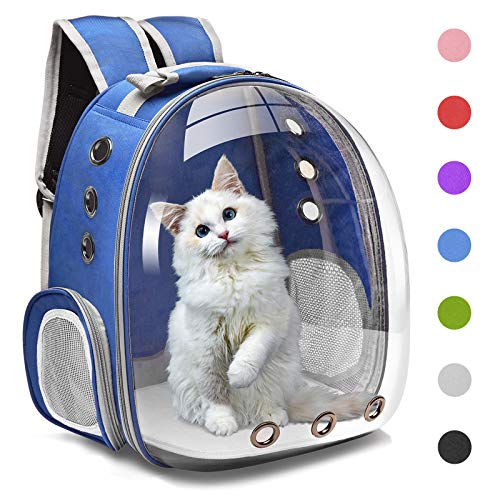 Henkelion Cat Backpack Carrier Bubble Carrying Bag, Small Dog Backpack Carrier for Small Medium Dogs Cats, Space Capsule...