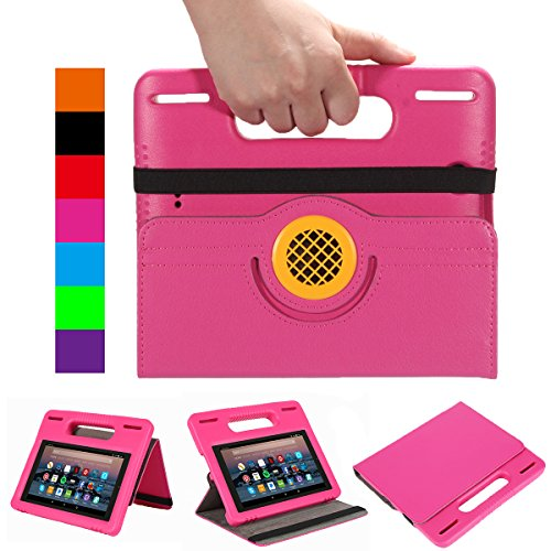All-New 7 Inch Tablet Case,7 Tablet Case for Kids - Riaour Kids Shock Proof Protective Cover Case for 7 inch Tablet (Compatible with 9th Generation 2019/7th Generation 2017)(Rose)
