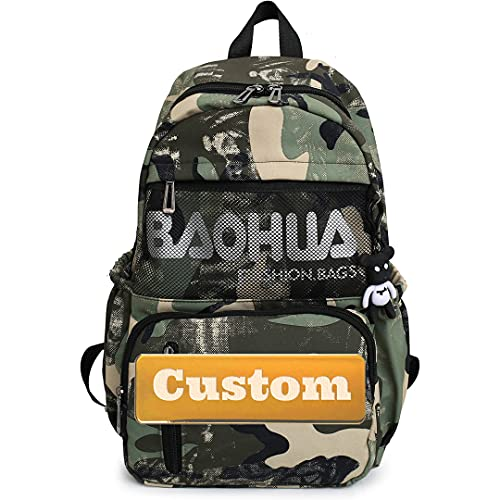 Mzhizhi Personalizzato Nome Personalizzato Escursionismo Donne Casual Zaino Borsa Leggero Viaggio (Colore: Lvmicai, Taglia Unita)