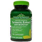 Finest Nutrition - Turmeric - Heart Health - 500 Mg - 150 Caplets