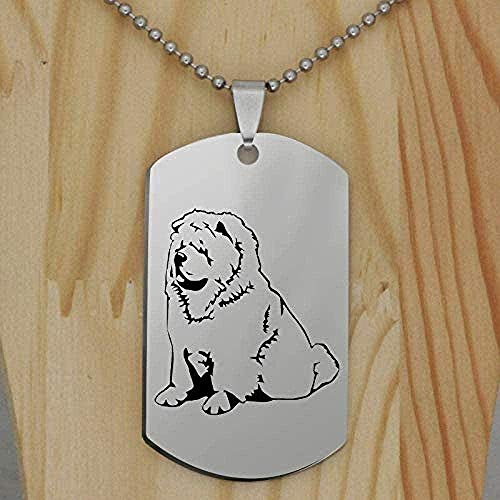 ZPPYMXGZ Co.,ltd Necklace Fashion Stainless Steel Chow Chow Dog Pendant Necklace Personality Funny Pet Jewelry Gift for Women Drop Shipping