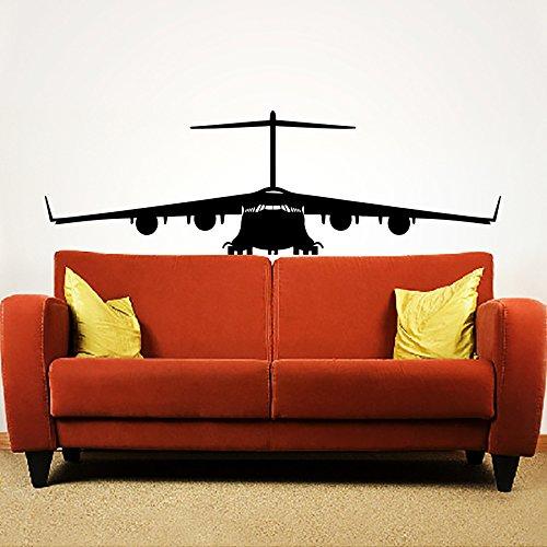 Sticker Mural Autocollant De Vinyle Stickers Art Intérieure Décor Militaires Aéronefs Plan L'air Avion Combattant Avion Copter Hélicoptère Aviation An256