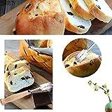 NO LOGO Especialidad Pan Arco Curvado Cuchillo de Madera de la manija 5 x Hojas de Repuesto Occidental Baguette de Corte de la Tostada Francesa Bagel Cortador