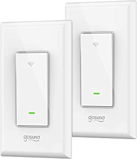 Smart Switch Gosund in-Wall Smart Wifi Light Switch Works with Amazon Alexa Google Home