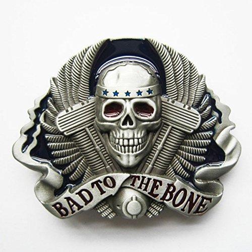 Belt buckle for universal belt with Vtwin motor skull