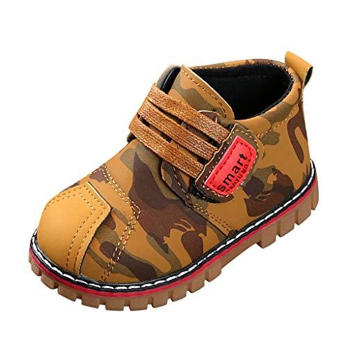WEXCV Kinder Stiefel Jungen Mädchen Stiefeletten Kinderschuhe Sneaker Tarnung Outdoor Frühling Stiefel Wasserdicht für Baby Kleinkinder Kleinkind Schuhe Babyschuhe