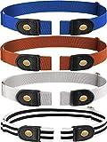 4 Piezas de Cinturón Elástico Sin Hebilla Cinturón Sin Hebillas Cinturón Elástico Invisible Unisex para Pantalones Vaqueros (Color 4)