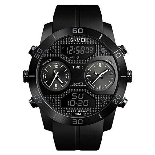 Reloj Digital Hombre,Reloj Deportivo Digital para Hombre, Reloj Deportivo LED Relojes Deportivos para Exteriores Relojes con Reloj Grande con cronógrafo a Prueba de Tiempo 3 Veces