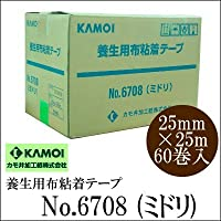 [A] kamoi 養生用布粘着テープ #6708(ミドリ) [25mm×25m 60巻入]