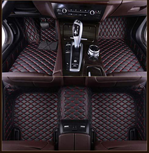 HIZH Auto-FußMatten FüR Alle Mercedes-Benz ABC CLA GLA DE ML SL SLK R Series Vito Viano Sprinter Maybach CLA CLK-Modelle, Rot (Full Set)