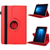 UC-Express Odys Connect 7 Pro Tasche Tablet Hülle Cover Case Schutzhülle 360° Drehbar Etui, Farben:Rot
