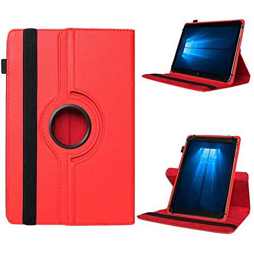UC-Express Odys Connect 7 Pro Tasche Tablet Hülle Cover Hülle Schutzhülle 360° Drehbar Etui, Farben:Rot
