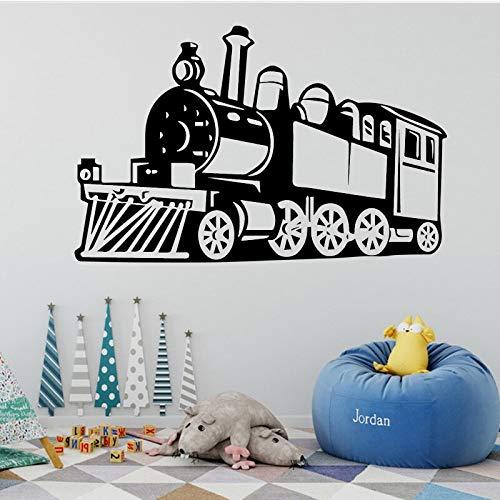 Calcomanía de pared de tren pegatina extraíble pegatina de fondo con diseño de cartel de niño pegatina de vinilo extraíble 58x91cm