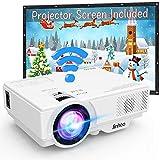 [2019 LATEST WIFI Projector] Jinhoo 3200Lumens Wireless Mini Projector 1080P Support 170 Inch