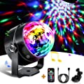 Disco Lights Disco Ball Party Lights, Sound Activated Party Lights with USB Cable, 360°Rotation Mirror Ball with Remote Control for Party Decorations Kids Birthday Family Gathering Xmas Dance