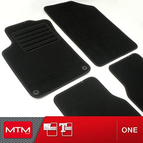 MDM Fußmatten DS3 ab 2010- Passform wie Original aus Velours, Automatten mit Absatzschoner aus Textile, Rand rutschhemmender, cod. One 655