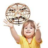 Mini Drone UFO para Niños juguetes, 360° Gira detección automática de obstáculos con Luz LED ,Juguete Volador Interactivo de Inducción Infrarrojo Recargable,Juegos de Interior y Exterior para Niños