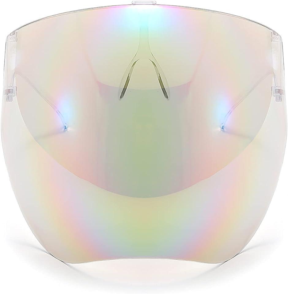 100 Classic Multicolor Protective Sunglasses Lightweight Visor Full Face Cover UV 400 for Men and Women