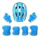 dPois Casco Infantil de Bicicleta Casco de Protección Seguridad Ajustable para Niñas Niños 3-10 Años Casco Tiburón Dinosaurio Azul Claro Talla única