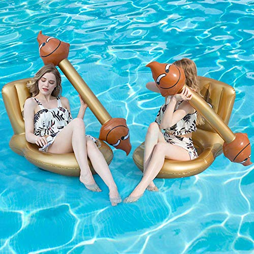 MENGDUO 4Pcs Creative Funny Inflatable Floating Row Toys,Toilet Seat Shape Design Indoor Swimming Ring,Outdoor Water Buoyancy Toys for Teenagers and Adults