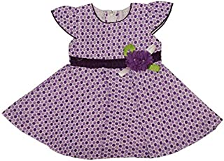 Sutifab Purple Big Dot Frock