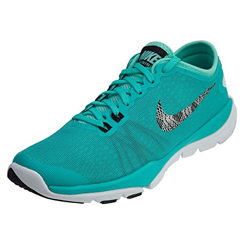 Nike Women's Flex Supreme Tr 4 Hyper Jade/Metallic Silver-Hyper Turquoise Ankle-High Cross Trainer Shoe - 8M