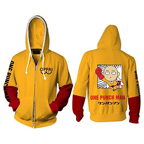 One Punch Man 3D Stampato Felpa Unisex Casual Manica Lunga Pullover Felpa Anime One Punch Uomo Saitama Cosplay Costume Con Cappuccio Pullover Maglioni Cappotto Top per Adulti/Bambini Tipo 1. 5X-Large
