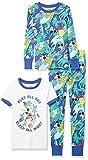 Spotted Zebra Disney Star Wars Marvel Snug-Fit Cotton Pajamas Sleepwear Sets Conjunto de Pijama, 3 Piezas Mickey Play, 4 años
