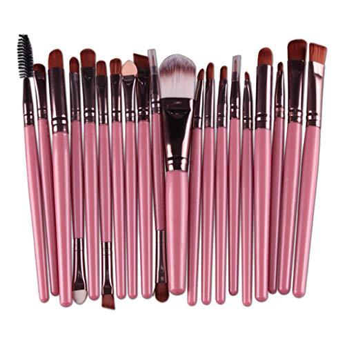 MagiDeal 20 Pcs/Set Pinceau De Maquillage Professionnel Set Outil Cosmétique De Beauté - Café rose