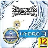 Wilkinson Sword BOX Hydro 3 - Pack 12 Recambio de Cuchillas de Afeitar de 3 Hojas para Hombres, Afeitado Masculino