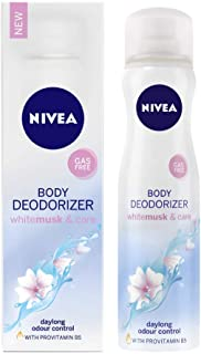 NIVEA Deodorizer, White Musk & Care Deodorant, Gas Free, Women, 120ml