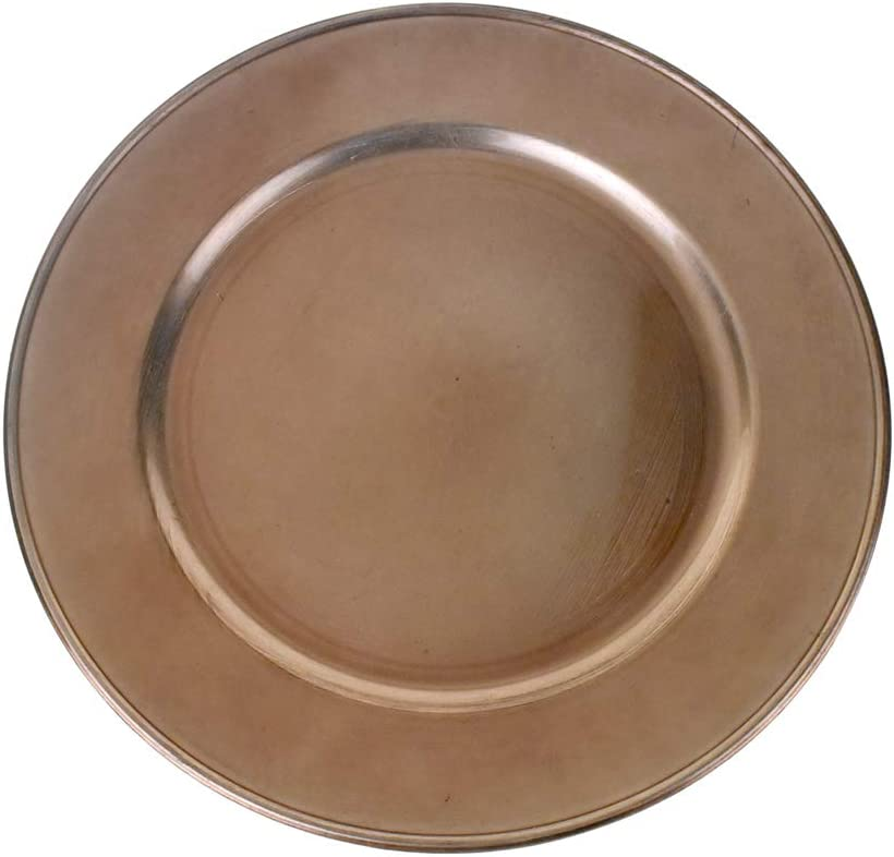 Homeford Plastic Round Under blast sales Charger Gold 13-Inch Plate Rose Omaha Mall