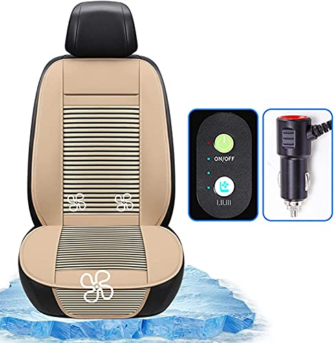 WSSCKT Cojín de Asiento de automóvil de enfriamiento 12V / 24V Aire Acondicionado Aire Acondicionado Aire Acondicionado Asiento Cojín de Asiento Automotriz Premium Calidad Temperatura Ajustable Ultra