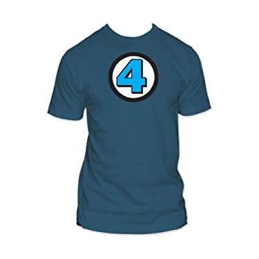 Fantastic Four - Logo Fitted T-Shirt (XX-Large/Blue)