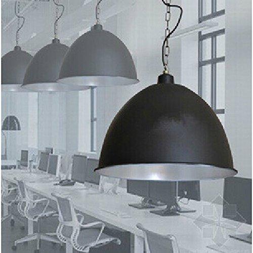 4PCS Pendelleuchten dia48CM die ganze Aluminium Industrie und Bergbau Lampe Schornstein Restaurant Bar Pendelleuchten FG568 LU1017 lo11 ( Size : Black )