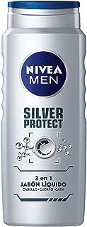Nivea Men Jabón Líquido Corporal Hombre 3 En 1 Silver Protect, 500ml