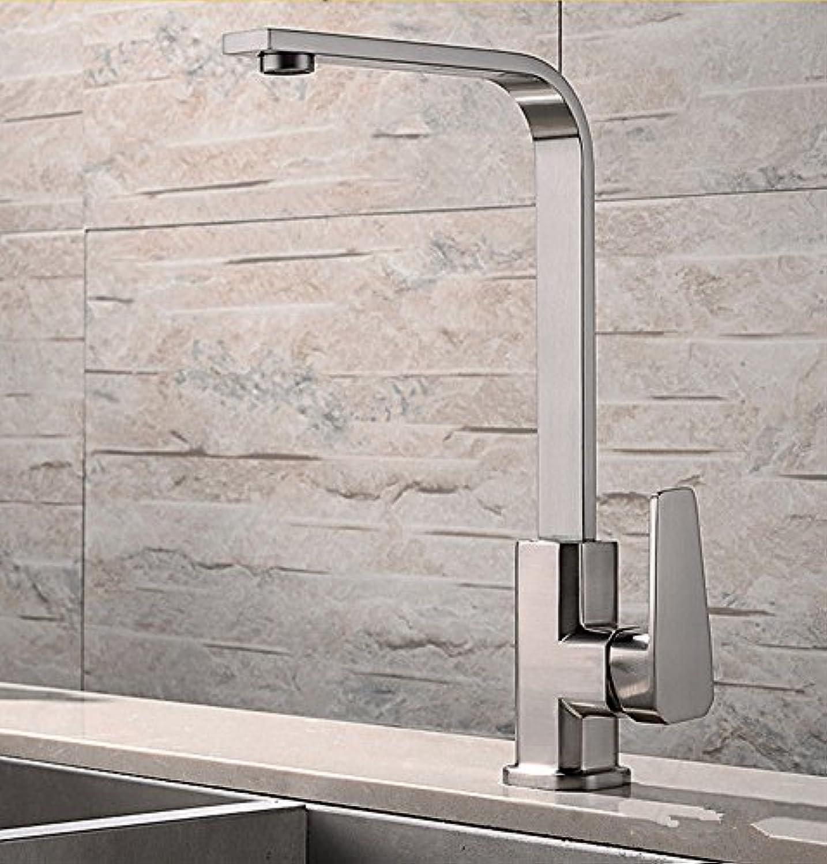 Küchenarmatur Waschtischarmatur Wasserfall Wasserhahn Bad Mischbatterie Badarmatur Waschbecken Badezimmer Kupferner heier und kalter Küchenhahn kann gedrehtes antikes Wei gebürstet werden