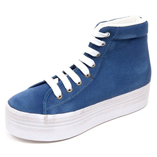 Jeffrey Campbell D2250 Sneaker Donna Scarpe Blu Chiaro Vintage Shoe Woman [39]