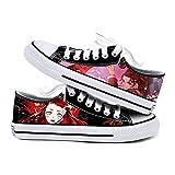 Q4S Demon Slayer Zapatos De Lona Tendencia para Hombres Y Mujeres Zapatos Casuales De Tela Calzado Deportivo,36