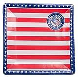Folat USA Party Teller, quadratisch, 25cm (8Stück)