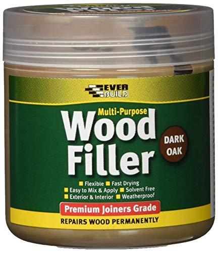 Multi purpose premium joiners grade wood filler - Filling small imperfections in wood - 250ml - Dark...