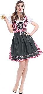 ハロウィンドイツのオクトーバーフェストバイエルンの伝統的なビールドレスドレス祭パーティーダンスドレス -初心者にぴったり (Color : Red, Size : XL)