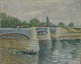 Wall Art Print Entitled The Bridge at Courbevoie Paris, May - July 1887 Vi by Celestial Images | 46 x 36