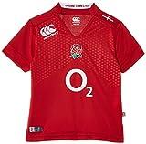 Canterbury Boy's England suppléant Pro Maillot de Rugby à Manches Courtes 14 Ans Rouge - Rouge Cramoisi