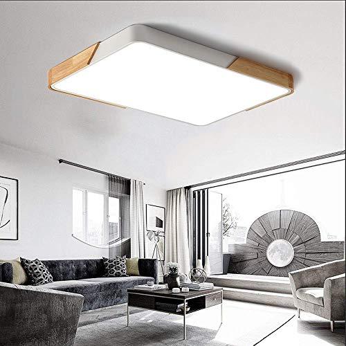 80W LED Deckenleuchte Deckenlampe mit Fernbedienung voll dimmbar Rechteckig 88 * 63 * 5 cm
