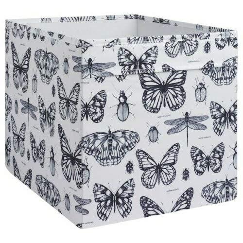 Generisch IKEA Dröna Aufbewahrungsbox für Kallax Regale Box Fach Kiste 33x38x33 cm (Schmetterling)