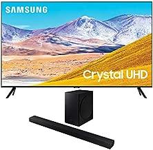 Samsung UN85TU8000 4K Crystal 8 Series Ultra High Definition Smart TV with a Samsung HW-T650 Bluetooth Soundbar with Dolby Audio Wireless Subwoofer (2020)