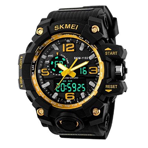 SKMEI Analogue - Digital Men's Watch (Gold Dial)