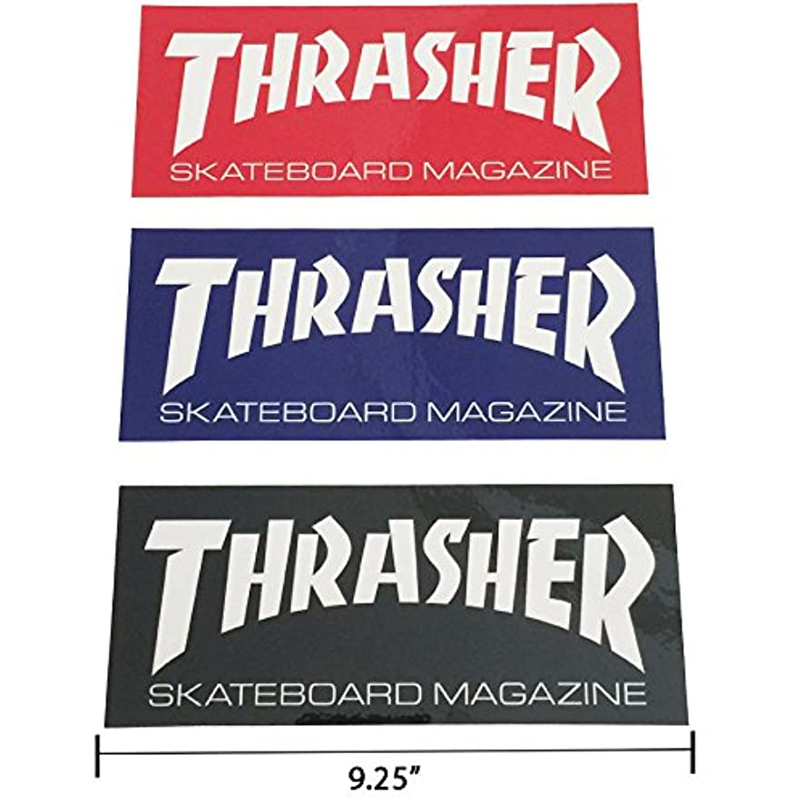 Thrasher Magazine Logo Rectangle Sticker 9.25